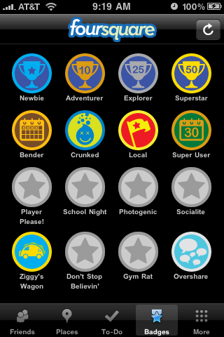 My Foursquare badges