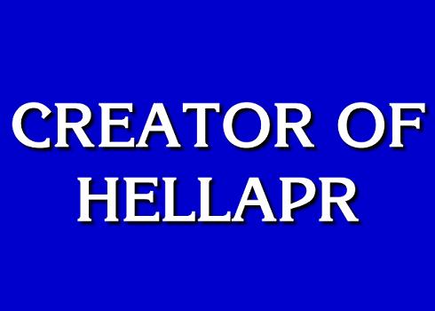 Creator of hellaPR